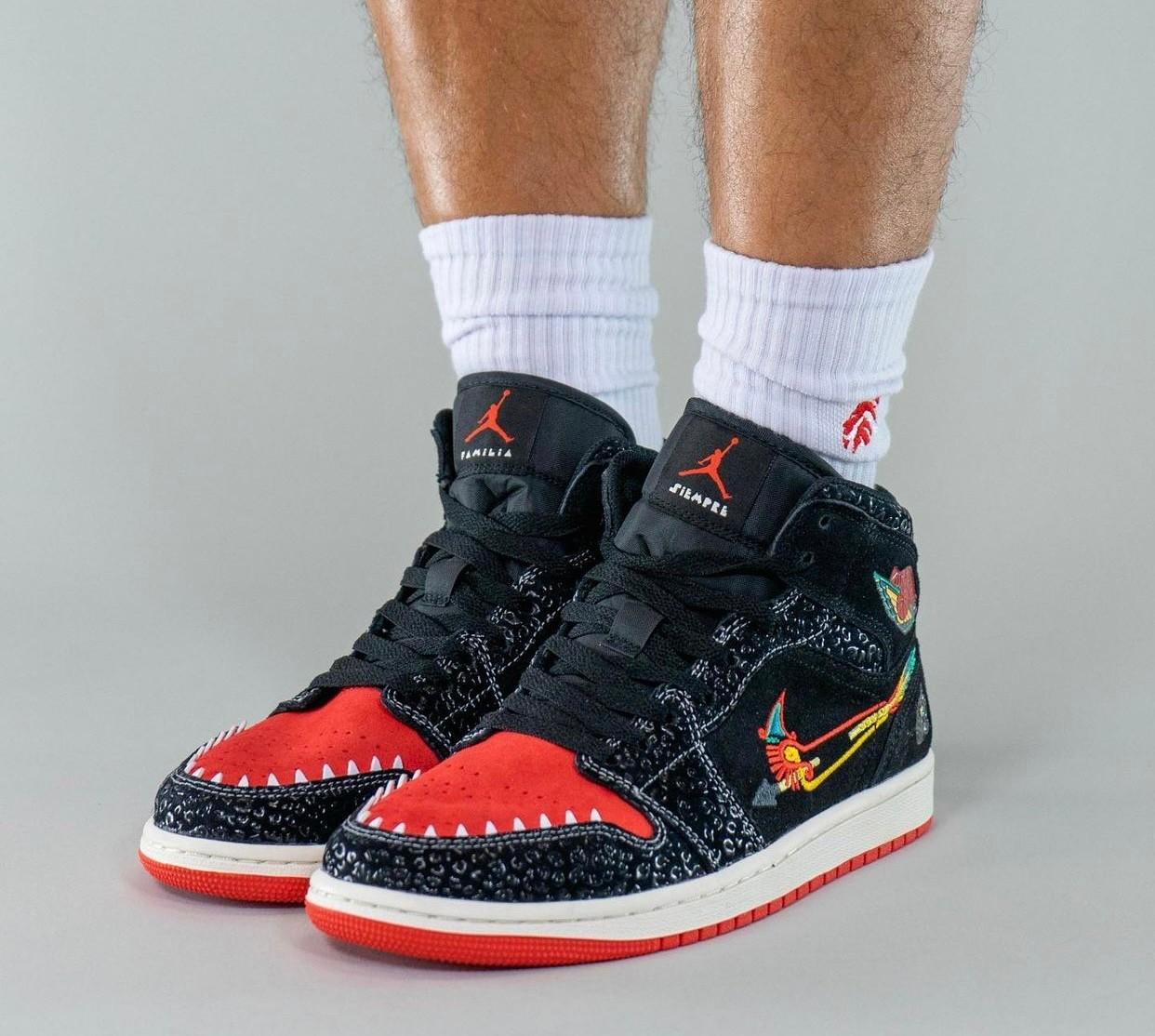 AJ,Air Jordan 1 Mid,Siempre Fa  浓郁「亡灵节」气氛!全新 Air Jordan 1 Mid 上脚图曝光!