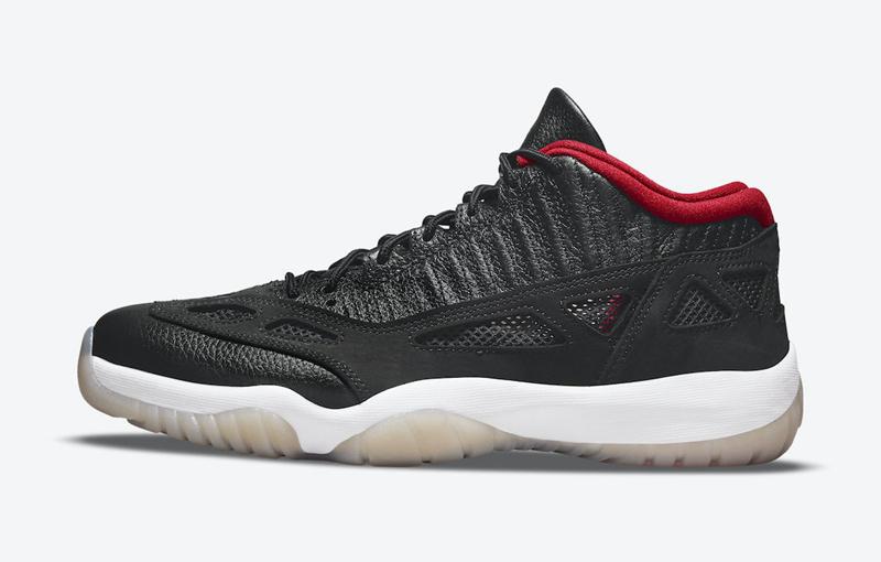 Air Jordan 11 Low IE,黑红,Bred,9  乔丹赛场亲穿!黑红 AJ11 IE 现已在 SNKRS 发售!