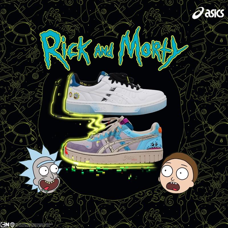 ASICS,Rick and Morty,COURT MZ,  豆瓣接近满分的神剧出联名了!瑞克和莫蒂 x ASICS 正式发布!