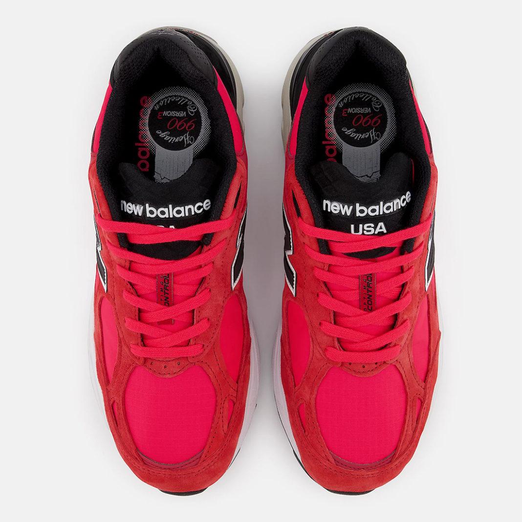 NB,New Balance,990v3,Red Suede  亮眼红色装扮!全新 New Balance 990v3 官图曝光!