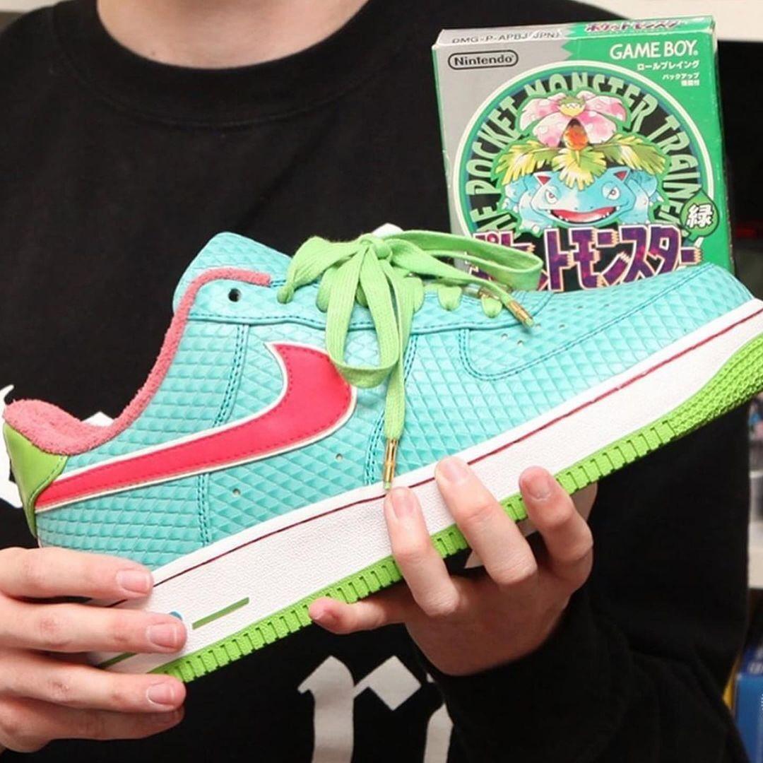 球鞋定制,AF1,Air Force 1,Nike  皮卡丘、梦幻、水箭龟...全新宝可梦 x AF1 现身网络!