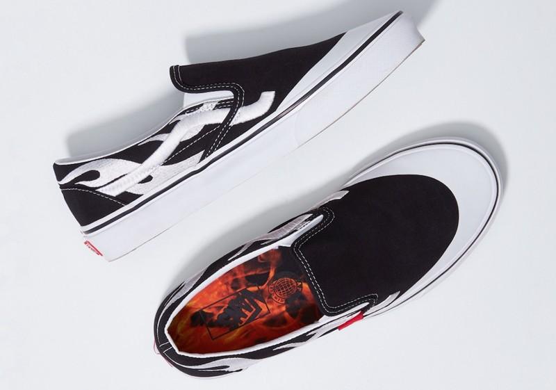 A$AP Rocky,蕾哈娜,Vans,Slip-On  霸气火焰装扮!A$AP Rocky x Vans 系列鞋款官图曝光!