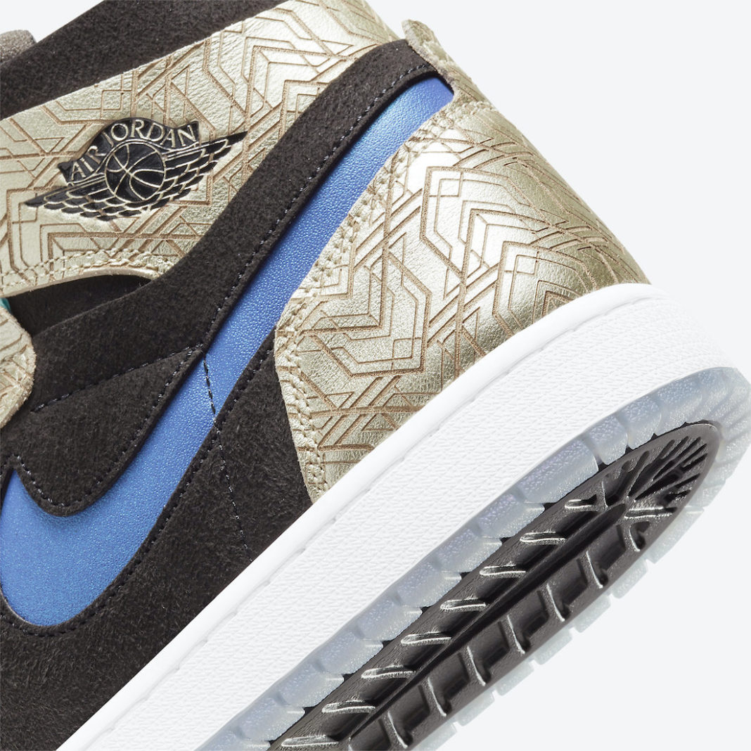 AJ1,Air Jordan 1 Zoom CMFT,Gol  炫酷镭射鞋面!全新 Air Jordan 1 今年发售!