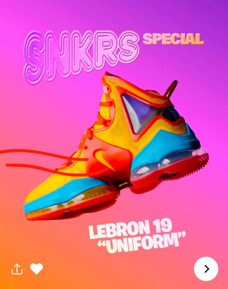 "Nike,詹姆斯,LeBron 19  全新「大灌篮」配色!LeBron 19 ""Space Jam"" 官图曝光!"
