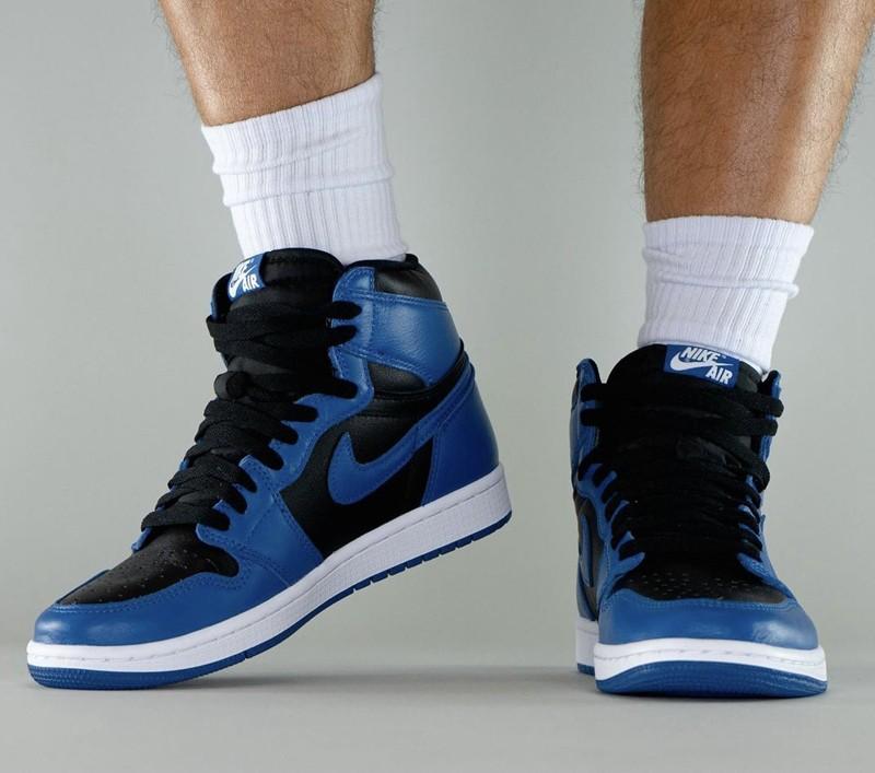 Air Jordan 1 High OG,皇家蓝,55508  上次市价小三千!「新皇家蓝」AJ1 最新实物上脚曝光!