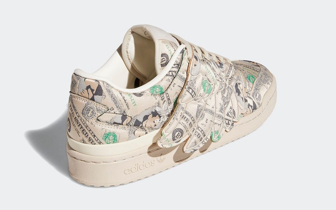 Jeremy Scott,adidas,Forum Low,  还是经典美金配色!低帮 Jeremy Scott x adidas「翅膀鞋」来了!