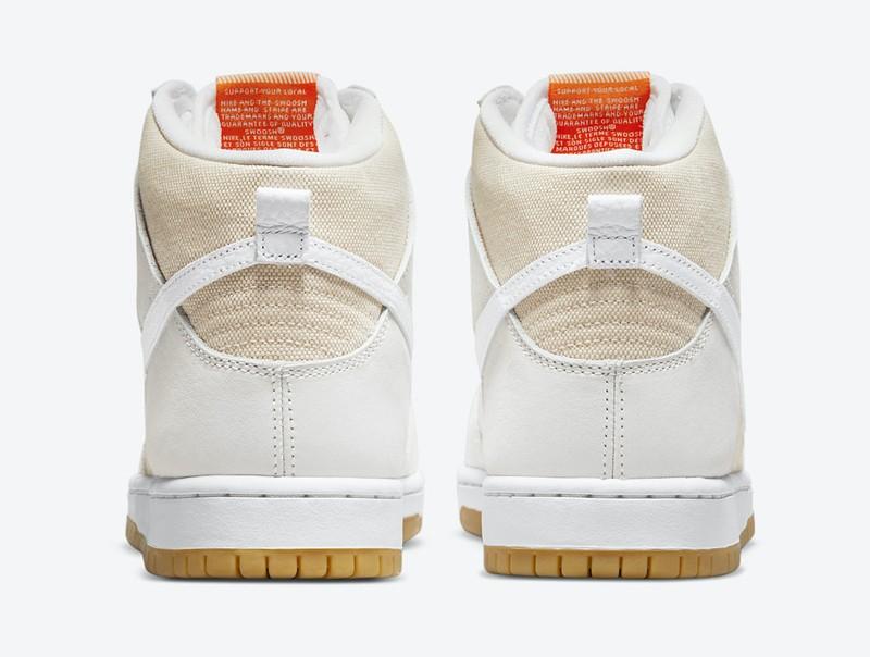 Nike,SB Dunk High,Unbleached P  复古亚麻质感!全新配色 SB Dunk Hi 官图曝光!