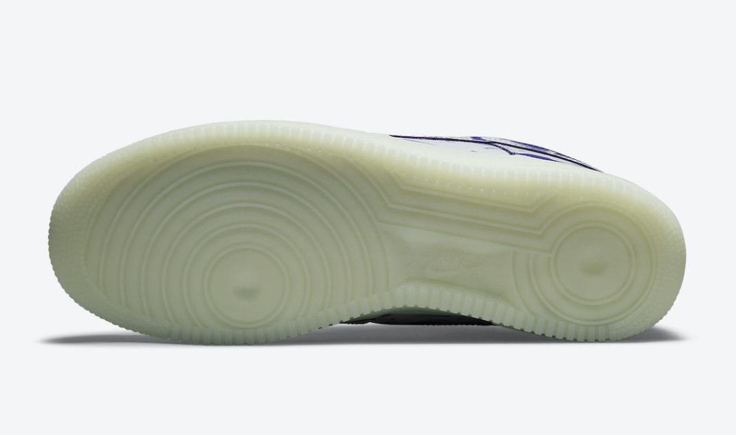 Nike,Air Force 1,Skeleton,CU80  十月发售!全新万圣节主题 Air Force 1 官图曝光!