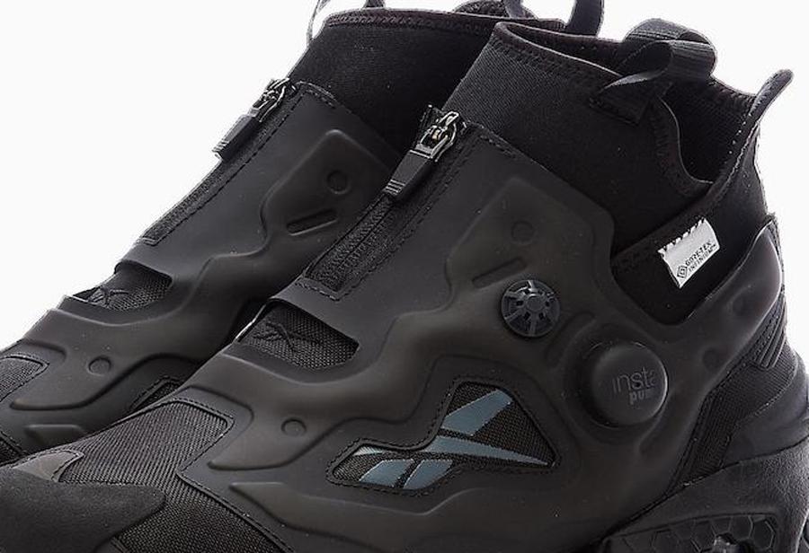 Reebok,Instapump Fury,Gore-Tex  全黑鞋身尽显机能造型!全新 Reebok Instapump Fury 官图曝光!