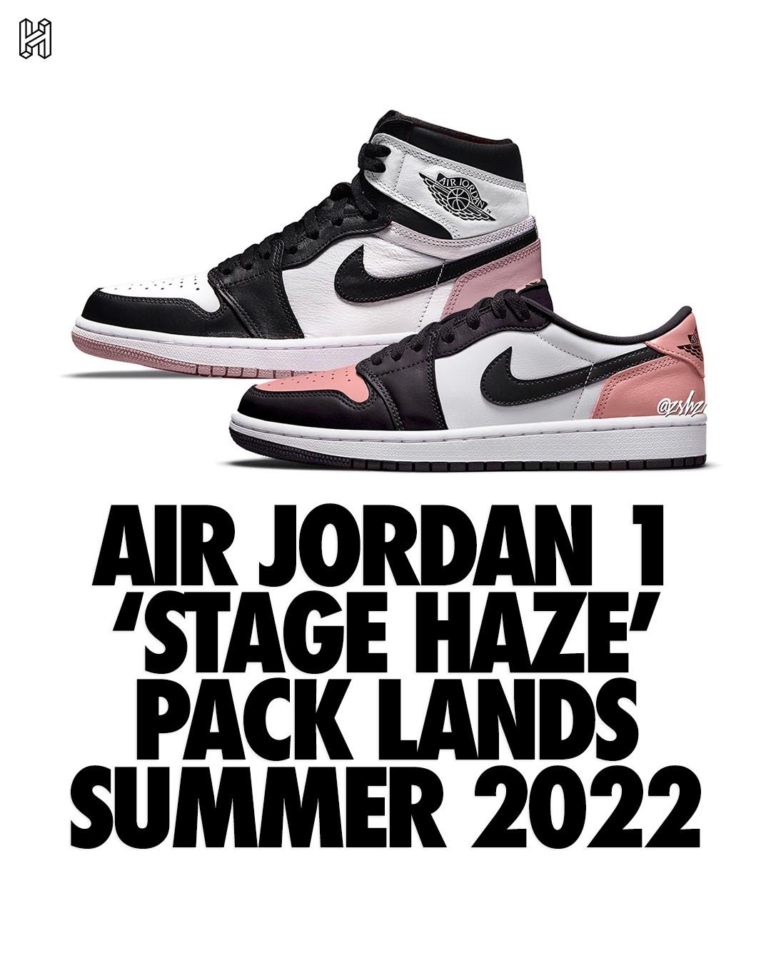 Stage Haze,PACK LANDS,Low,High  酷似天价联名!两双全新「黑粉脚趾」AJ1 曝光!