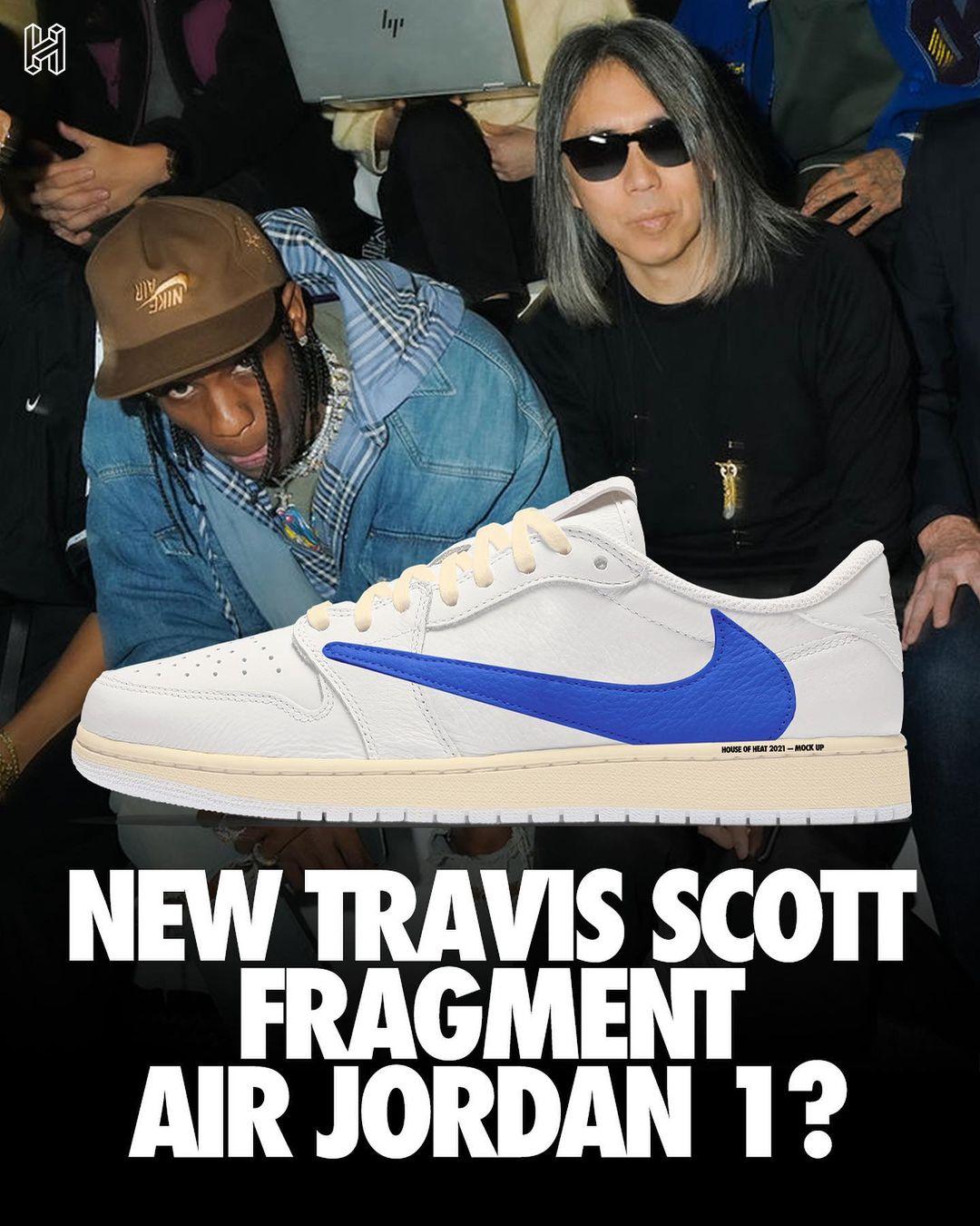 Travis Scott,Air Jordan 1,AJ1,  藤原浩上脚新倒钩 TS x AJ1!又是从未曝光的三方联名?!