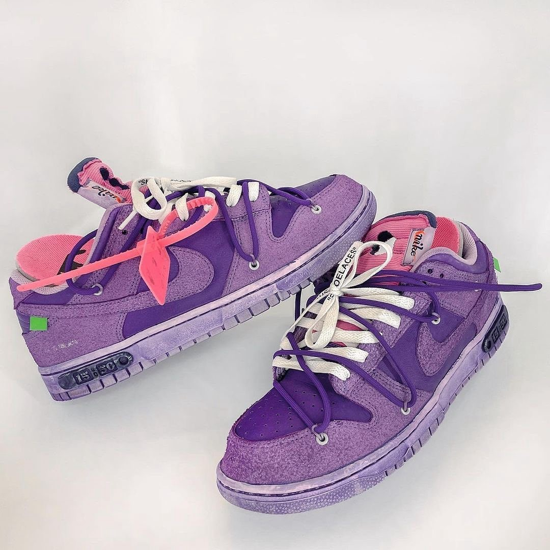 THE 50,Dunk,OFF-WHITE  OW x Dunk Low 隐藏款?翻毛鞋面 + 骚紫配色太帅了!