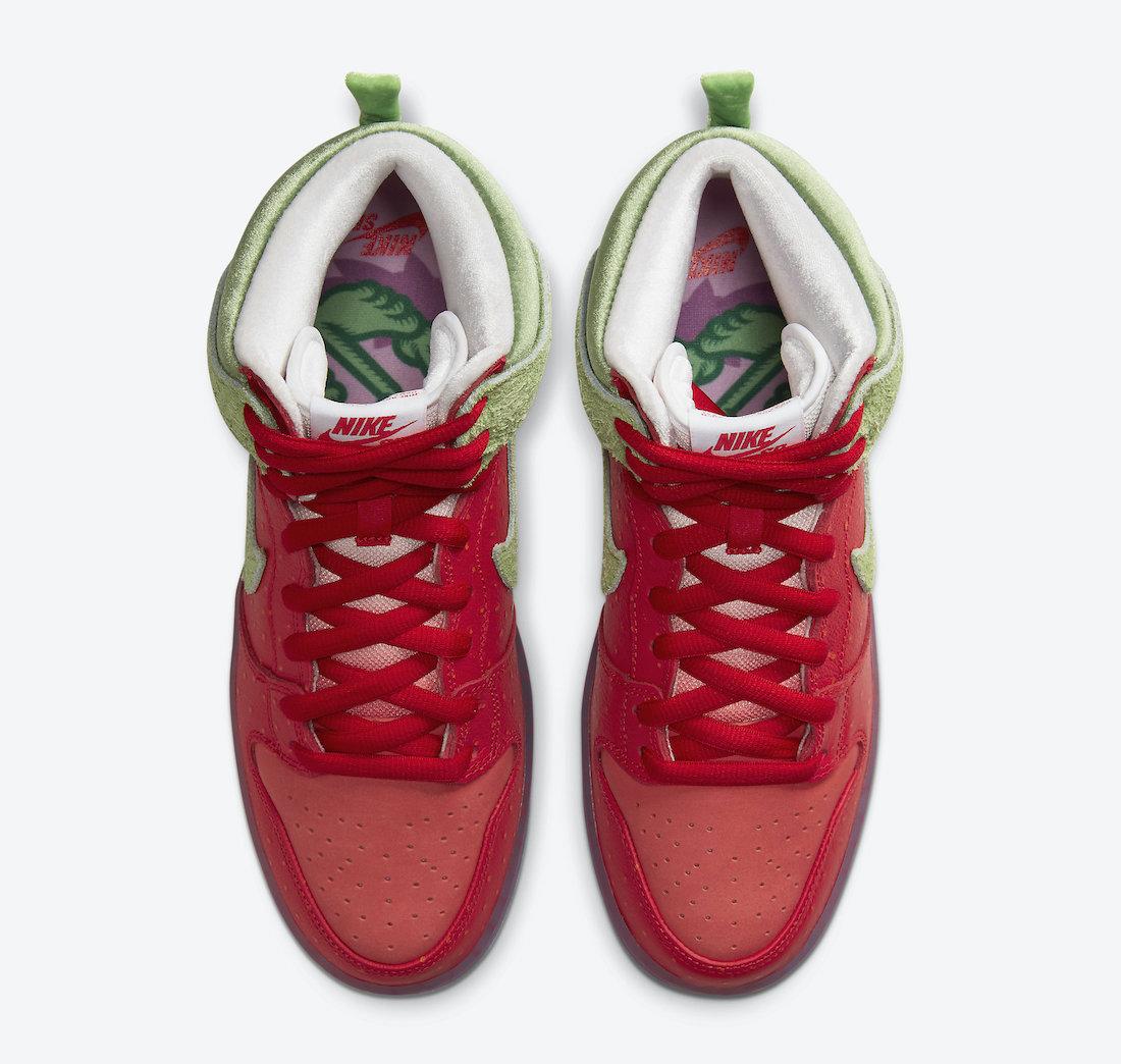 Nike,SB Dunk High,CW7093-600,发  市价两万!「咳嗽草莓」SB Dunk 终于要发售了!