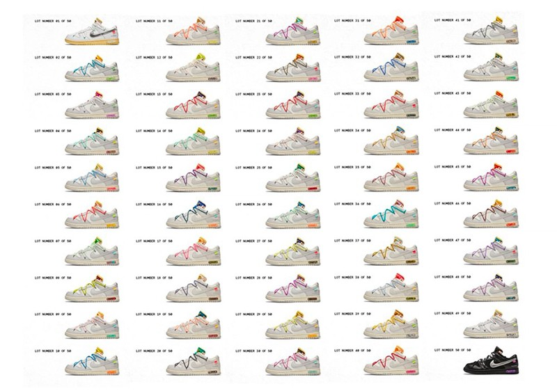 "OFF-WHITE,Nike,Dunk Low,樱花,定制  求求了快市售!樱花配色 OW x Dunk ""THE 50"" 实物太美了!"