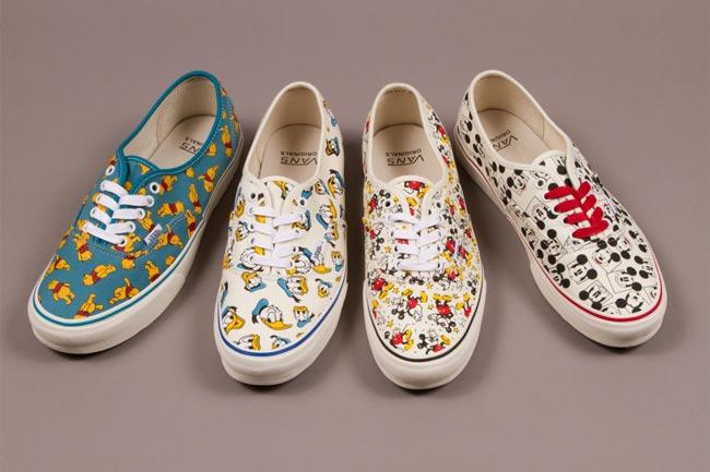 此次,Vans 旗下高端支线 Vans Vault 联手 Disney 公司,以 Disney 旗下的著名卡通人物米老鼠、唐老鸭以及小熊维尼为灵感,打造出了这六款鞋履。系列包含了 Vans Sk8-Hi 以及 Vans Authentic 两款鞋型,每款鞋的鞋身上布满了三大卡通人物的头像图案,可谓将复古与童趣完美结合。据悉,该系列将在7月起在各大 Vans 店铺发售,想要入手的朋友可以留意一下。