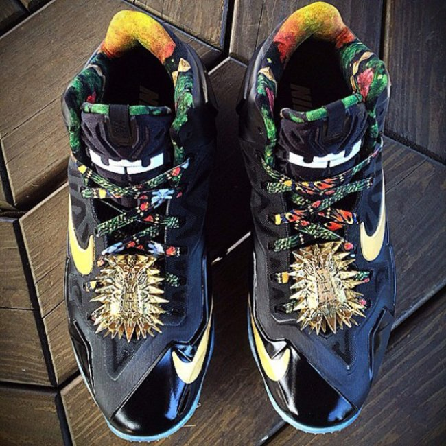 "定制版 LeBron 11 ""Watch The Throne"" 释出 LBJ11 球鞋资讯 FLIGHTCLUB ..."