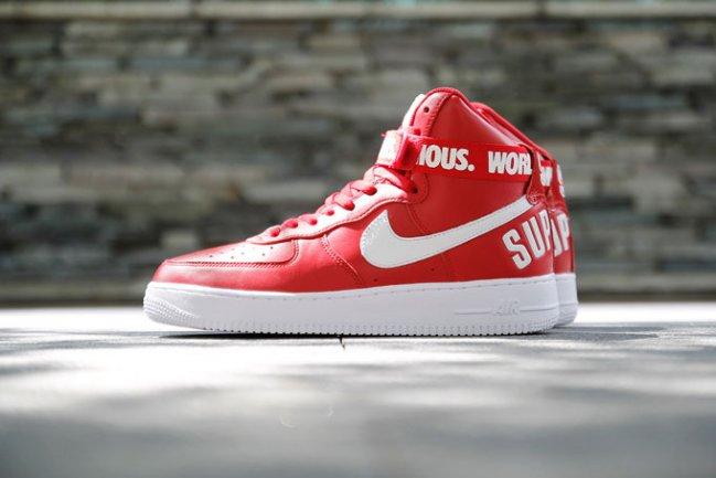 球鞋资讯_球鞋资讯,球鞋新闻,时尚杂 supreme x nike air force 1 红色版本近赏