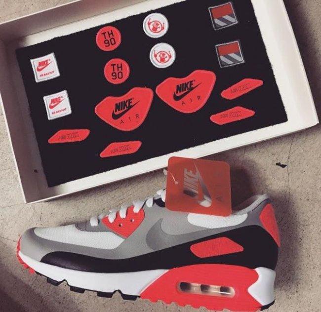 """Nike,Air,Max,90,红外线红,补丁  Nike Air Max 90 """"Infrared"""" Patch 补丁款登场"""