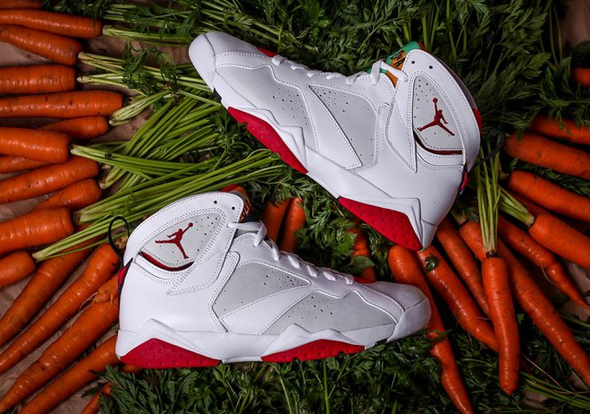 """CT8529-002,AJ7,Air Jordan 7 CT8529-002 胡萝卜鞋盒!Air Jordan 7 """"兔八哥 2.0"""" 实物首次曝光!"""