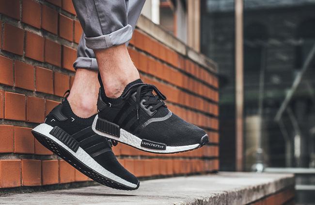 "new product b4211 1601a adidas NMD R1 Primeknit ""Black Japan"" 上脚欣赏S81847 球鞋 ..."